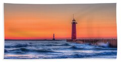 Kenosha Lighthouse Dawn Beach Towel