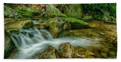 Kens Creek In Cranberry Wilderness Beach Towel