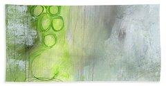 Kensho- Abstract Art By Linda Woods Beach Towel