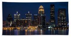 Louisville At Night Beach Sheet
