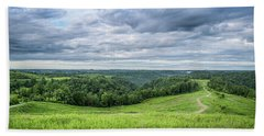 Kentucky Hills And Clouds Beach Towel