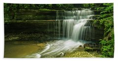 Kentucky Waterfalls Beach Towel by Ulrich Burkhalter