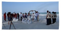 Kenya Wedding On Beach 2 With Maasai Beach Towel