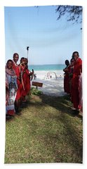 Kenya Wedding On Beach Maasai Bridal Welcome Beach Towel