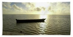 Kenyan Wooden Dhow At Sunrise Beach Towel by Exploramum Exploramum