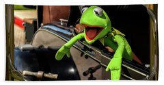 Kermit In Model T Beach Towel