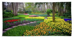 Keukehof Botanic Garden 2015 Beach Sheet by Jenny Rainbow