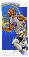 Kevin Durant Golden State Warriors Oil Art Beach Sheet