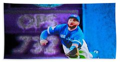 Kevin Pillar In Action II Beach Towel