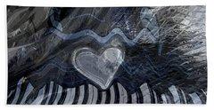 Beach Towel featuring the digital art Key Waves by Linda Sannuti