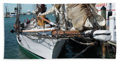 Key West Appledore Sailboat Beach Towel