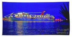 Key West Cruising  Beach Towel