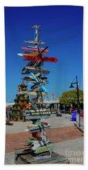 Key West Destination Sign Beach Towel