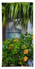 Key West Garden Beach Towel