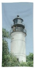 Beach Sheet featuring the painting Key West Lighthouse by Bob George