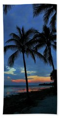 Key West Sunset No 2 Beach Sheet by Ron Grafe