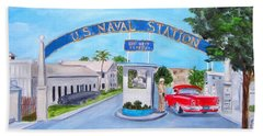 Key West U.s. Naval Station Beach Towel
