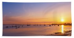Keyport Harbor Sunrise  Beach Towel