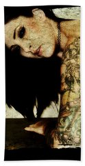 Beach Towel featuring the digital art Khrist 2 by Mark Baranowski