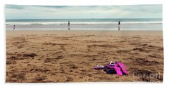 Beach Towel featuring the photograph Kick Off Your Shoes by Linda Lees