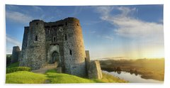 Kidwelly Castle 3 Beach Towel