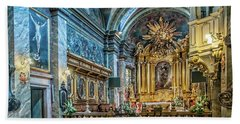 Kielce Cathedral In Poland Beach Towel by Brian Tarr
