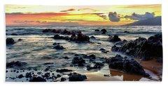 Kihei Sunset 2 Beach Towel