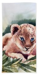 Kijani The Lion Cub Beach Sheet