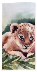 Kijani The Lion Cub Beach Sheet