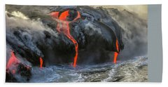 Kilauea Volcano Hawaii Beach Sheet