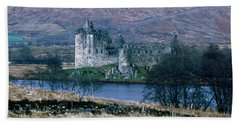 Kilchurn Castle, Scotland Beach Towel