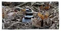 Killdeer On It's Nest 2682 Beach Towel