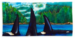Killer Whales Beach Towel
