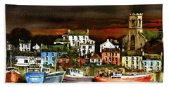 Killybegs Harbour, Donegal. Beach Towel
