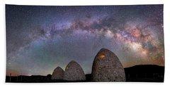 Kilns Under The Milky Way Beach Sheet