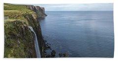 Kilt Rock Waterfall Isle Of Skye, Uk Beach Towel
