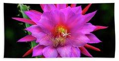 Kimnach's Pink Orchid Cactus Beach Towel