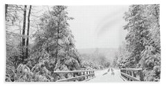 Beach Towel featuring the photograph Kindness Is Like Snow by Lori Deiter