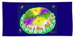 Beach Sheet featuring the digital art King Cake by Jean Pacheco Ravinski
