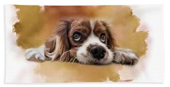 King Charles Cavalier Beach Towel