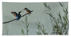 King Fishers  Beach Towel