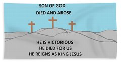 King Jesus Beach Sheet by Linda Velasquez