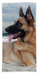 King Of The Beach - German Shepherd Dog Beach Towel