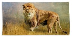 King Of The Serengeti Beach Towel