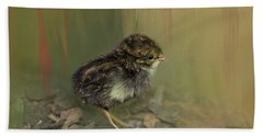 King Quail Chick Beach Towel