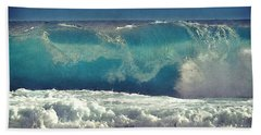 King Tide Wave Beach Towel