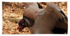 King Vulture 1 Beach Towel by Chris Flees