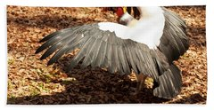 King Vulture 3 Strutting Beach Towel by Chris Flees