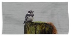 Beach Sheet featuring the photograph Kingfisher In Bellingham by Karen Molenaar Terrell