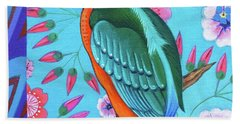 Kingfisher Beach Towel by Jane Tattersfield